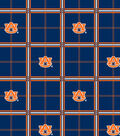 Auburn University Tigers Flannel Fabric 42\u0022-Plaid