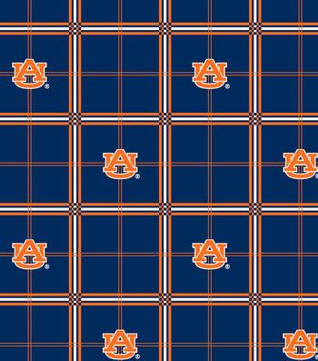 "Auburn University Tigers Flannel Fabric 42""-Plaid"