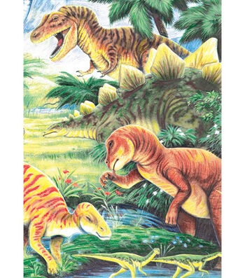 "Royal Brush 5""x7"" Colour Pencil By Number Kit-Dinosaur Fun"
