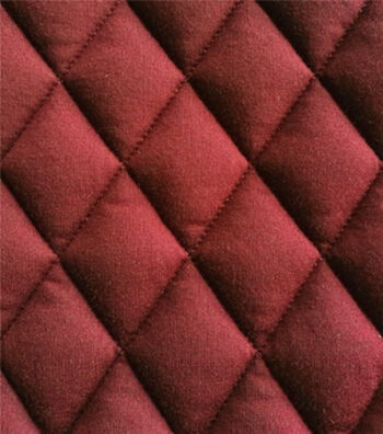 """Varsity Club Quilted Knit Fabric 55""""-Wine"""