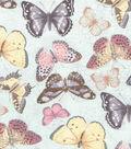 Buttercream Cosette Collection Cotton Fabric-Butterflies Mint Metallic