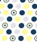 Magic Moon Flannel Fabric 43\u0022-Leo & Phin Dots