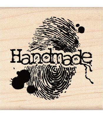 Inkadinkado Halloween Mounted Rubber Stamp Handmade Fingerprint
