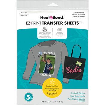 "Heat'n Bond EZ Print Transfer Sheet-8.5""X11"" 5/Pkg"