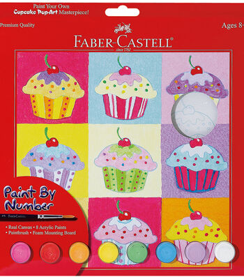 "Creativity For Kids-Paint By Number Kit 9""X9""-Cupcake Pop Art"