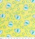 Nursery Flannel Fabric 42\u0022-Happy Jungle Tossed Animals