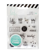 Heidi Swapp Memory Planner Pack of 16 Clear Stamps-Weekend, , hi-res