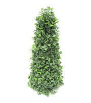 Blooming Holiday Christmas 14'' Boxwood Cone Tree-Green, , hi-res