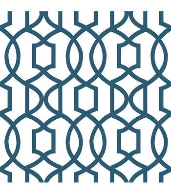 WallPops® NuWallpaper™ Navy Grand Trellis Peel And Stick Wallpaper