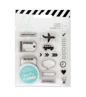 Heidi Swapp Memory Planner Pack of 17 Clear Stamps-Icons