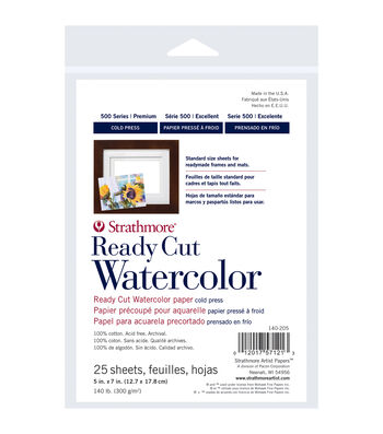 """Strathmore Watercolor Paper Pack 5""""X7""""-25 Sheets"""