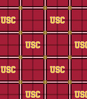 "University of Southern California Trojans Flannel Fabric 42""-Plaid, , hi-res"