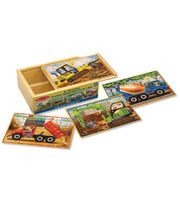 Melissa & Doug Construction Puzzles in a Box, , hi-res