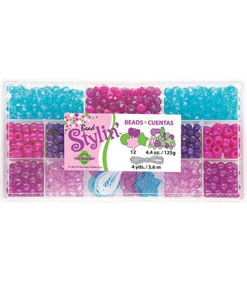 Bead Stylin' Bead Box Kit 4.4 Ounces/Pkg-Berry Brights