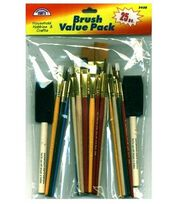 Contemporary Crafts Value Pack Brushes 25 Piece Set-Assorted, , hi-res