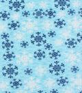 Anti-Pill Fleece Fabric 61\u0022-Snowflake Blue
