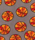 Blizzard Fleece Fabric 59\u0022-Basketball Camo