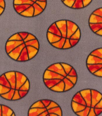 """Blizzard Fleece Fabric 59""""-Basketball Camo"""