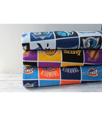 Assorted NBA Fleece Remnants-10yds