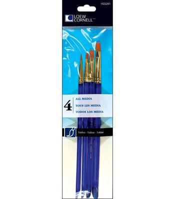 Taklon Craft Brush Set-4/Pk