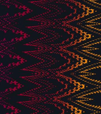 "Silky Prints Latin Fabric 58""-Fuchsia and Orange"