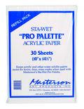 Masterson Sta-Wet Pro Palette 30 pk 10\u0027\u0027x14.5\u0027\u0027 Acrylic Refill Papers