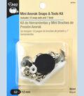 Dritz 12mm Mini Anorak Snaps And Tools Nickel