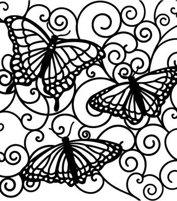 """Crafter's Workshop Templates 6""""X6""""-Flutterby"""