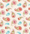 Premium Quilt Cotton Fabric 44\u0022-Tossed Paisleys