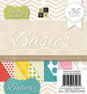 "DCWV 6""x6"" Basics Printed Stack™double sided, , hi-res"