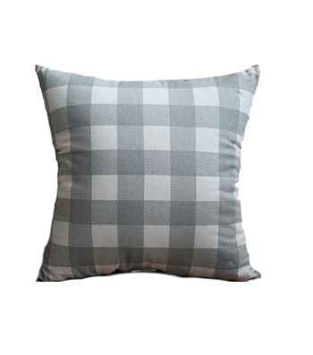Hudson 43 Farm 18''x18'' Pillow-Blue Checks