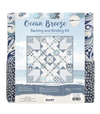Quilt Block Ocean Breeze Backing & Binding Kit
