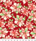 Kathy Davis® Cotton Fabric 44\u0022-Melody Poinsettia