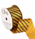 1 And One Half New Year Diag Stripes Ribbon