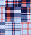 Nursery Flannel Fabric 42\u0022-Nautical Plaid