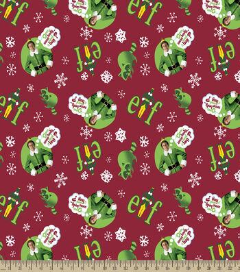 Elf Somone Needs a Hug Print Fabric