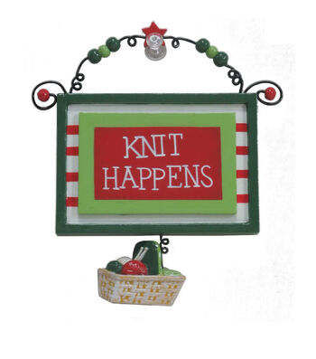 Maker's Holiday Christmas Ornament-Knit Happens