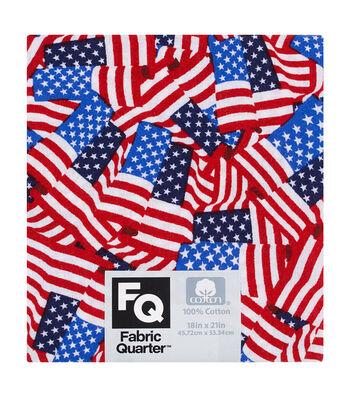 "Fabric Quarters Cotton Fabric 18""-Novelty Patriotic"