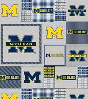 "University of Michigan Wolverines Fleece Fabric 60""-Gray Box, , hi-res"