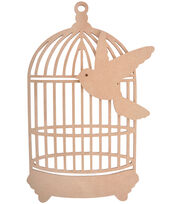 Kaisercraft Beyond The Page MDF Traditional Birdcage With Bird, , hi-res