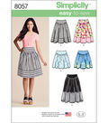 Simplicity Misses\u0027 Easy-To-Sew Skirts In Three Lengths-6-8-10-12-14