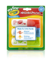 My First Crayola Washable Easy Grip Markers 3pc-Red, Yellow And Blue, , hi-res
