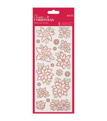 Papermania Create Christmas Dot Stickers-Christmas Flowers
