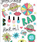 My Mind\u0027s Eye Good Vibes 28 pk Puffy Stickers with Foil Accents