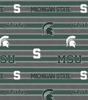 "Michigan State University Spartans Fleece Fabric 58""-Polo Stripe, , hi-res"