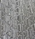 Knit Jacquard Fabric 58\u0022-Black & White Diamond