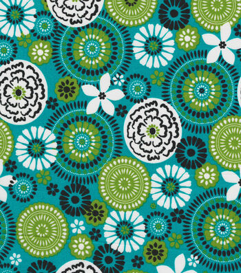 Quilter's Showcase® Fabric 43''-Floral Medallion on Capri Breeze