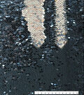 Reversible Sequin Fabric 53\u0022-Navy & Silver