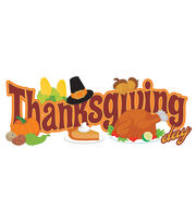 Jolee's Boutique Title Waves Dimensional Stickers-Thanksgiving Day, , hi-res