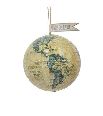 Maker's Holiday Christmas Travel Globe Ornament-Peace On Earth